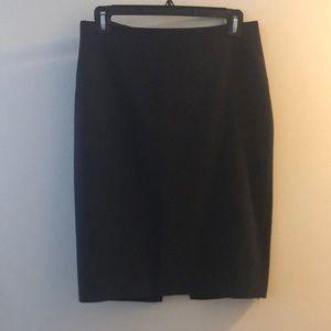 T Tahari Navy Blue Pencil Skirt